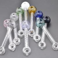 Bunte Pyrex Thich neueste Design Glasölrohrleitung 12 cm Mini Glasölbrenner Öl Nagelpfeife zum Rauchen