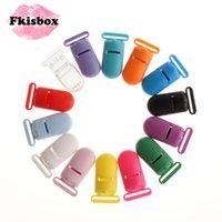 FKISBOX 50 pc plástico bebê chupeta clipes bebês soother mamilo titular acessórios recém-nascidos infantil dentição teether jóias fazendo 210311