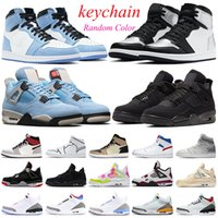 Men 1s OG basketball shoes University Blue 4s 5s bred Black Cat reflective flint womens mens trainers Sports Sneakers outdoor