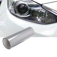Автомобильная легкая прозрачная защитная пленка виниловая упаковка УФ-защита для хвоста / головки / тормозной сигнал / противотуманный фонарь 30x60 / 30x100 / 40x120 / 30x200 / 40x200cm