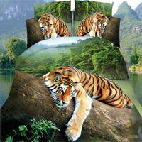 3D-Bettwäsche-Set Rosenmuster Bettwäsche 4PC Bett-Sets-Bettdecke / Bettwäsche / Bettdecke-Abdeckungsblatt Kissenbezüge