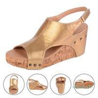 Sandálias de plataforma adisputente cunhas sapatos para as mulheres saltos Sandalias Mujer Sapatos de Verão Clog Mulheres Espadrilles Sandálias
