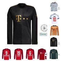 Long sleeve 21 22 DAVIES bAyerN soccer jerseys Oktoberfest SANE LEWANDOWSKI COMAN GNABRY KIMMICH MULLER 2021 2022 München MUSIALA munich Football jersey fourth