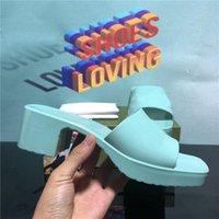 Высочайшее качество модные женские Gucci резиновые слайд сандалии роскошные флиппанцы тапочки обувь сексуальная леди девушки вечеринка бренда тапочки дизайнер желе высокие каблуки сандалии