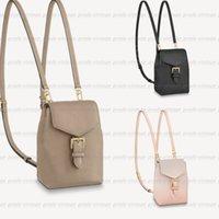 Genuine Leather Designer mochilas de luxo minúsculos bolsa de shouler sacos de ombro bolsas pretas letra em relevo moda zíper viajando mochila m80738 m80596