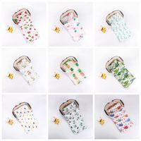 28 estilos Infantil Muslin Cobertor Ins Bebê Swaddle Envoltório Morango Impresso Cobertor Toweling Spring Summer Unicorn Animal 120 * 120 cm