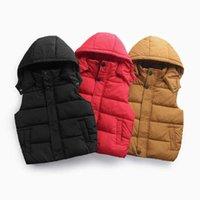 Olekid 2021 otoño invierno algodón cálido chaleco niños niños niños sin mangas chaqueta 3-12 años adolescente chicas abrigo chico chaleco chaleco H0923