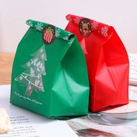 50pcs Snowflake Christmas Tree Gift Bags Merry Christmas Baking Packaging Bag Candy Boxes Xmas Decorations