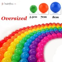 US Stock 5.5cm 7cm 8cm Eco-Friendly Safe Ocean Ball Soft Plastic Funny Baby Kid Swim Pit Toy Water Pool Ocean Wave Ball Dia Home Party Toy BJ08