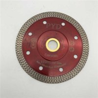 Lâminas de serra Turbo 4,5 polegadas (115 mm) para porcelana cerâmica telha de mármore cortador de disco cortador de disco diamante disco interior 22,23 mm ou 5/8-11 8fvg