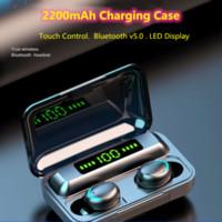 M10 TWS Bluetooth 5.1 Kulaklık 2200 mAh Şarj Kılıfı Kablosuz Kulaklık 9D Stereo Spor Su Geçirmez Kulakiçi Kulaklıklar VS M10