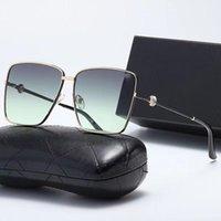 Alta Qualidade Homens e Mulheres Retro Moda Metal Frame Óculos de Sol Avant-garde Confortável Piloto Pesca Condução de Praia Viagem Marca Vidros UV400 Anti-reflear Caixa de Correia