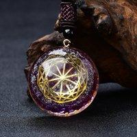 Ormus de cristal do ouro do pingente do pingente do gerador de energia do olho roxo