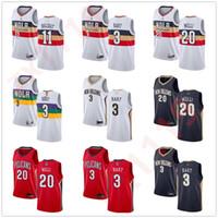Herren Womens Jugend Josh Hart 11 Jrue Holiday 20 Nicolo Melli White Navy Custom Basketball-Trikots