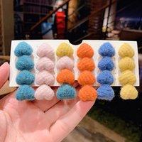 Candy Color Plush Love Hairpin в Южной Корее Верхний клип Net Красный Простой Стиль Девушка Головной убор