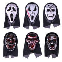 Happy 2021 Halloween Party Decor Horror Face Scream Haloween Mask Grimace Trick Or Treat Hallowen Cos Kid Favor