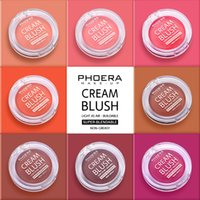 PHOERA 8Colors Blush Paste Matte Makeup Lightweight Blusher Cream Natural Rouge Cheek Peach Contouring For Face Cosmetic