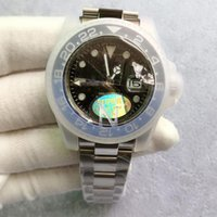 Top Venta caliente V3 Versión Asia ETA 2813 Movimiento Hombres Reloj Batman Cerámica Bisel Sapphire Glass Relojes para hombre Luminoso Dive Impermeable 50m
