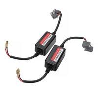 자동차 헤드 라이트 2PCS H1 H7 LED 전면 헤드 라이트 CANBUS 오류없는 경고 저항 디코더 캔슬 러 어댑터