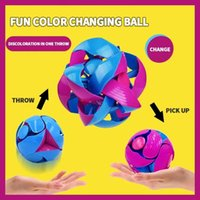 Magic Telescopic Color Changing Ball Decompression Toy Puzzle Two-color Deformation CatchingBall