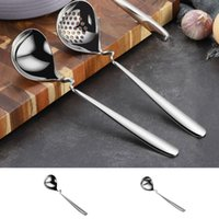 Spoons 304 Stainless Steel Ladle Kitchen Long Handle Serving Soup Spoon Home Restaurant Tableware