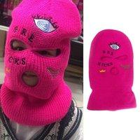 Beanies Balaclava Mask Hat Winter Neon Green Halloween Cap For Party Ski Cycling Y2k Egirl Costume Cosplay Street Gang