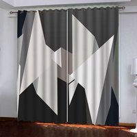 2021 3D Vorhang Geometrie Vorhänge für Wohnzimmer Schlafzimmer Modern Mode Fenster Cortinas Vorhänge