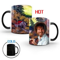 Mugs Bob Ross350ml Ross Color Changing Ceramic Heat Water Cup Coffee Milk Birthday Christmas Present For A Friend