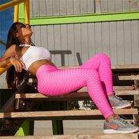الشهيرة tiktok scrunch غنيمة طماق اللياقة البدنية تجريب النساء اليوغا السراويل مرونة jaquard طماق محكم للقطارة زائد الحجم الأسود اللياقة FY9002