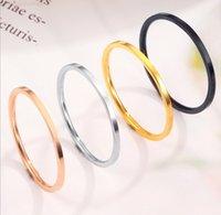 Größe dünner minimalismus stahl 1mm 2mm edelstahl 3-10 herren band finger ringe zehenring für frauen und männer großhandel schmuck