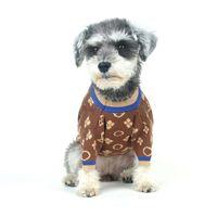 Moda Köpek Giyim Klasik Jakarlı Pet Kazak Açık Sıcak Rahat Yavru Kazık Teddy Schnauzer Fransız Bulldog için