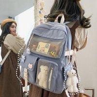 MUYOGRT KAWAII NYLON FEMME Femmes Sac à dos Fashion Rucksack imperméable pour adolescents Sac d'école Jolie Étudiant Bookbag Travel Mochila