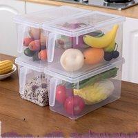냉장고 스토리지 박스 주방 투명 PP 저장 상자 곡물 콩 저장 봉인 된 홈 주최자 식품 용기 696 K2 포함