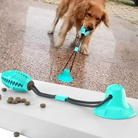 Pet Molar Bite Toy Multifunction Dog Biting Toys Rubber Chew Ball Cleaning Teeth Safe Elasticity Soft Dental Care Suction Cup WY1325