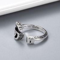 Öffnen einstellbarer Größenring Kreativer Muster Retro Ring Hohe Qualität 925 Silber Überzogene Ring Schmuckversorgung