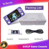 G351P 3500mAh El Oyun Konsolu Retro Oyun Konsolu Açık Kaynak Linux Sistemi Dahili 64g 2500 Klasik Oyunlar 3.5 inç IPS Ekran
