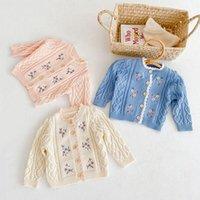 Пуловер Milancel 2021 осень детская одежда вышивка для вышивки малыш свитера цветы девочки кардиганы младенческий трикотаж