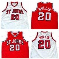 Custom Custom Custom Retro N ° 20 Chris Mullin Jersey Basketball Hommes Poucipé Blanc Rouge Toute taille S-3XL Nom et numéro de qualité de qualité supérieure