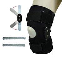 Almofadas do joelho do cotovelo Ajustável Suporte de liga de alumínio Corrigido Proteção Ortese Artrite Apoio Conjunto Built-in Spring
