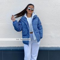 여성용 코트와 자켓 겨울 대형 한국 스타일 따뜻한 후드 복어 여성 두꺼운 짧은 파카