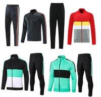 2021 2022 Tracksuit Zipper Clear Zip Jacket Treinamento de Futebol Terno 21 22 Pre-Match Football Winter Pants Kit