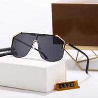 Alta Qualidade Flat Top Designer Esporte Mens Mens Sunglasses Luxo Antigos óculos de sol moda condução elipse quadro óculos UV400 com caixa