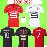 Футболки Stade Rennais 2021 2022 Terrier 21 22 Футболка Rennes детская форма мальчики ребенок 120 Maillot de Foot 120th Anniversary Edition дома в гостях красный белый