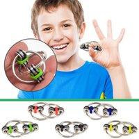 DHL Stress Soulagement Jouet Toy Spinner Spinner Métal Flippy Chaîne Fidget Toys Autisme Porte-clés Pendentif Adhd Sensory Cadeau Pour Enfants Grossistes