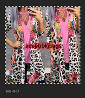 Outdoor Shirts Ladies Fashion Leopard Flowers Printed Long Soft Sleeve Loose Jacket Cardigan Cover-Ups Sexy Bikini Cover Up Sunscreen Beachw