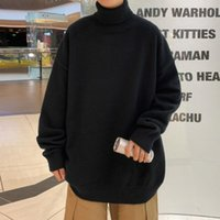 Men's Sweaters Thick Warm Sweater Men Turtleneck Loose Casual Pullovers Bottoming Shirt Autumn Winter Solid Color