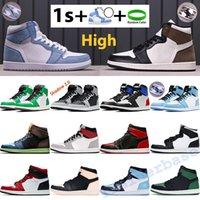 Alto Air Jordânia 1 1S Basquetebol Sapatos Hyper Royal Mocha Mocha Mocha Mens Sneakers Universidade Azul Pinho Verde Preto Branco Sombra Obsidiana UNC Patent Bed Homens Treinadores