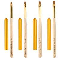 Escova de Limpeza de Prego Gel UV Pó De Poeira Cutícula Escovas Limpas Manicure Dica Redonda Universal Caneta Manicure Unhas ferramenta de arte