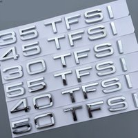 رقم رسالة شعار لأودي صالون SUV A4L A5 A6L Q3 Q5 Q7 Q7 30TFSI 35TFSI 40TFSI 45TFSI 50TFSI 55TFSI سيارة جذع شارة ملصق
