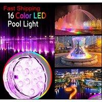 10 LED أضواء المقبض الغوص حوض السمك الملونة تحت الماء أضواء ماء تسليط الضوء عن التحكم عن بعد 7 اللون qyldnw sports2010